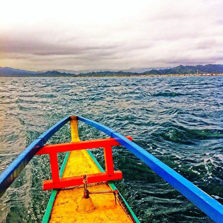 """""""Stormy Seas"""" Ocean Water Boat Sea Stormy Motorboat Cagbalete"""