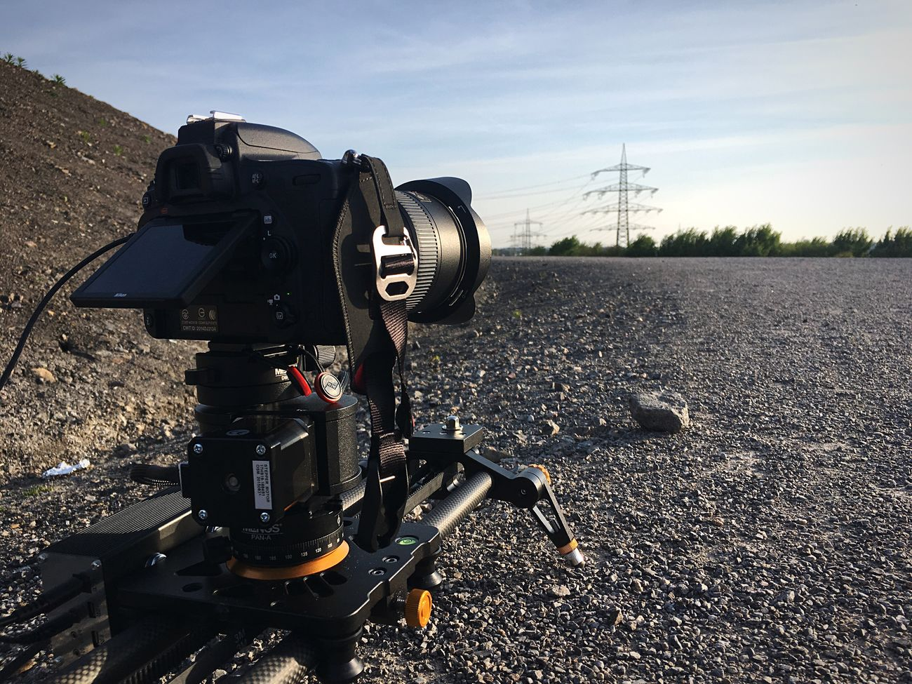 Pocketslider PT-Pro with Nikon D750 shooting Motion Timelapse. No People Day Technology Road Camera - Photographic Equipment Photography Themes Outdoors Sky Close-up