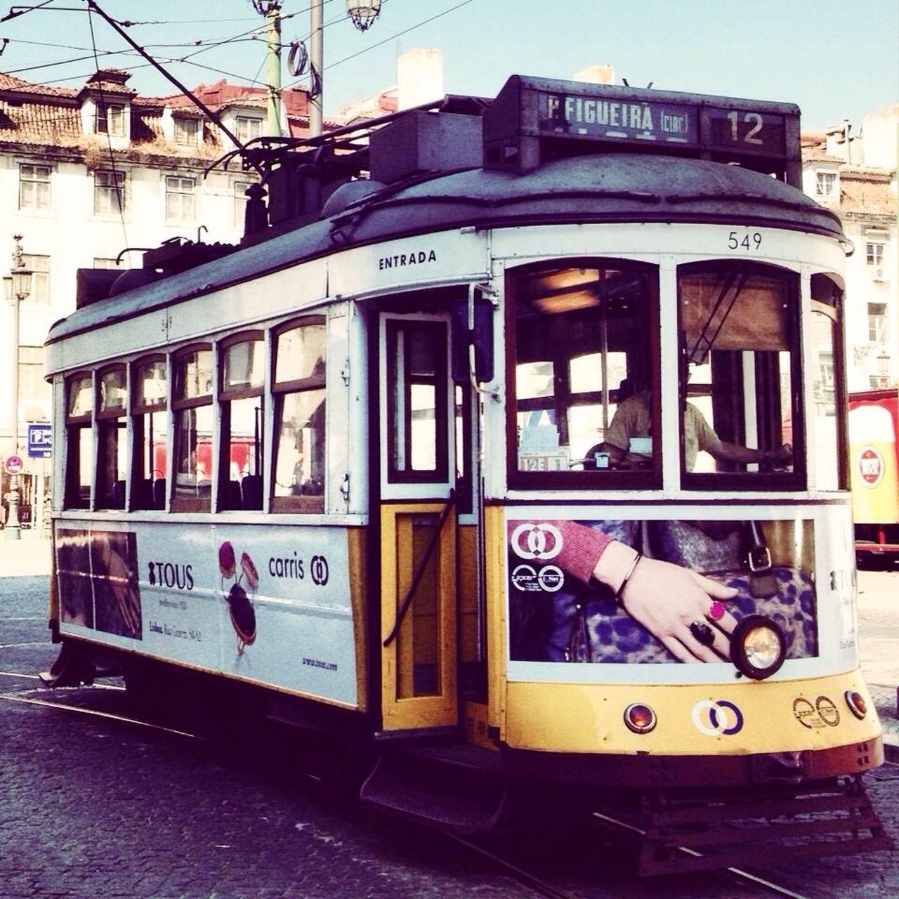 Transportation Train - Vehicle Public Transportation Text Cable Car Outdoors City Day Architecture No People