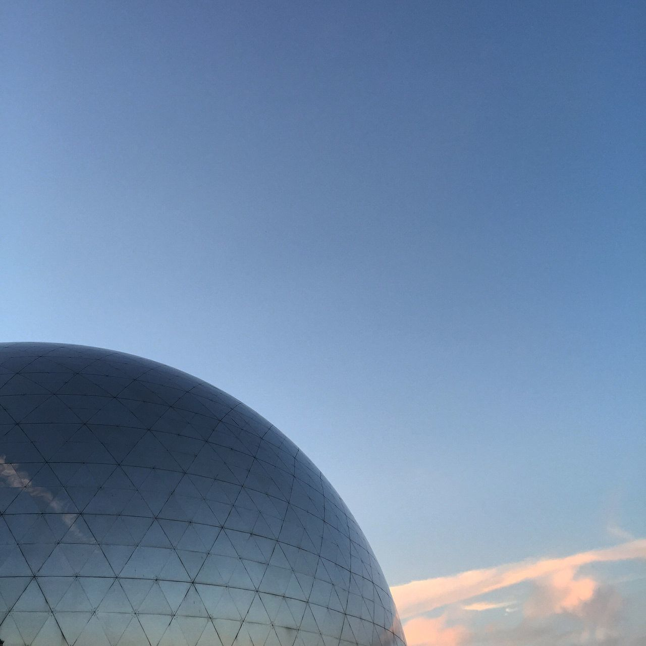 dome, architecture, blue, built structure, no people, radar, day, clear sky, outdoors, sky