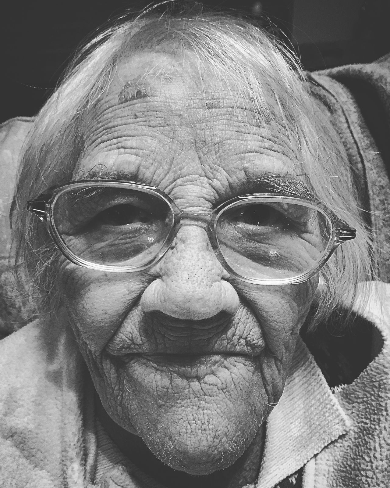 Grandma Grandmother Old Age 90s Wise Wrinkles Nana IPSWebsite IPhoneography IPhone Photography Portrait Old Lady The Portraitist - 2016 EyeEm Awards