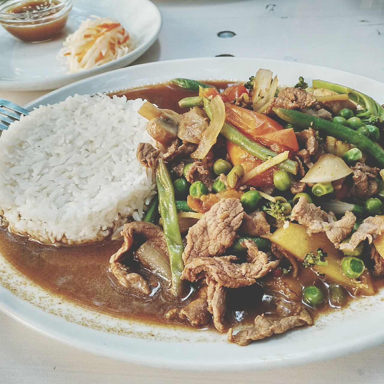 Beef Ginger Asian Rice Sauce Fish Sauce Soja Sauce Tofu Asianfood Streetfood Vietnamese Food Vietnam Food Chinese Food Thai Food Healthy Eating Asian Culture Bean Sprouts Green Beans Carrots Pea Meat! Meat! Meat! Food Onions Healthy Food Sommergefühle Ready-to-eat