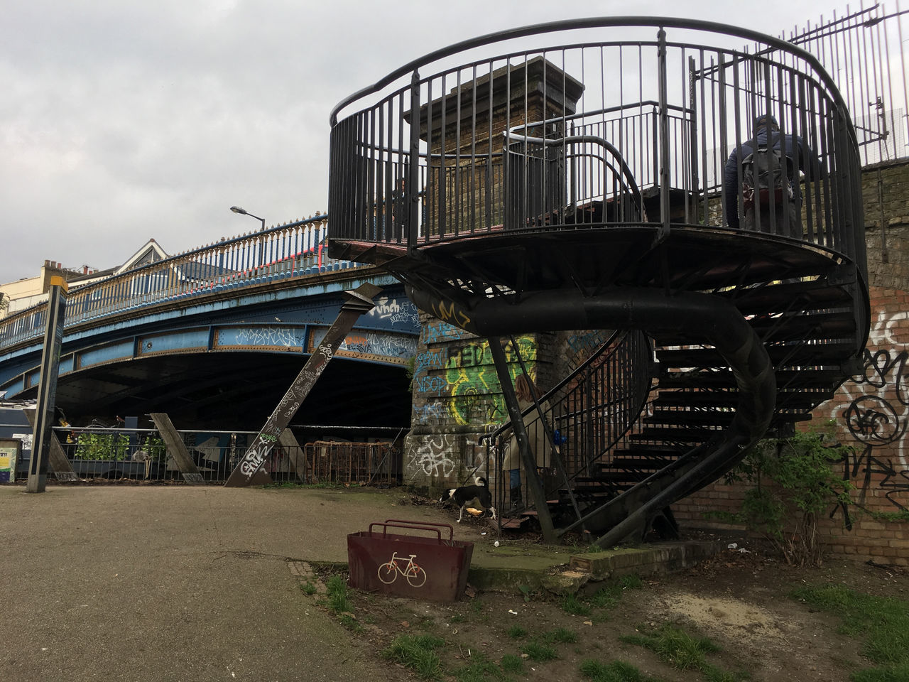 Architecture Bridge Built Structure Canal Day London Canal Outdoors Sky Steps Steps And Staircases