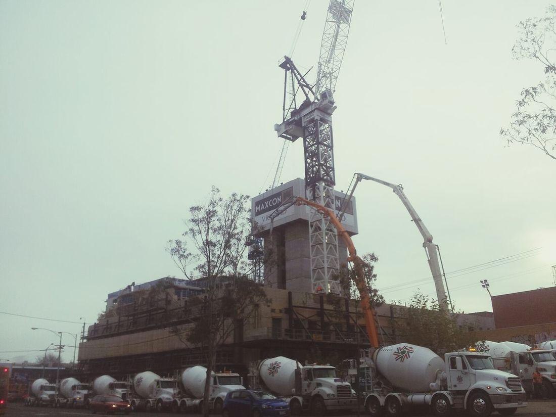 Convoy  . Line Up End Of Line . Bulding Site Buildings & Sky Building Materials