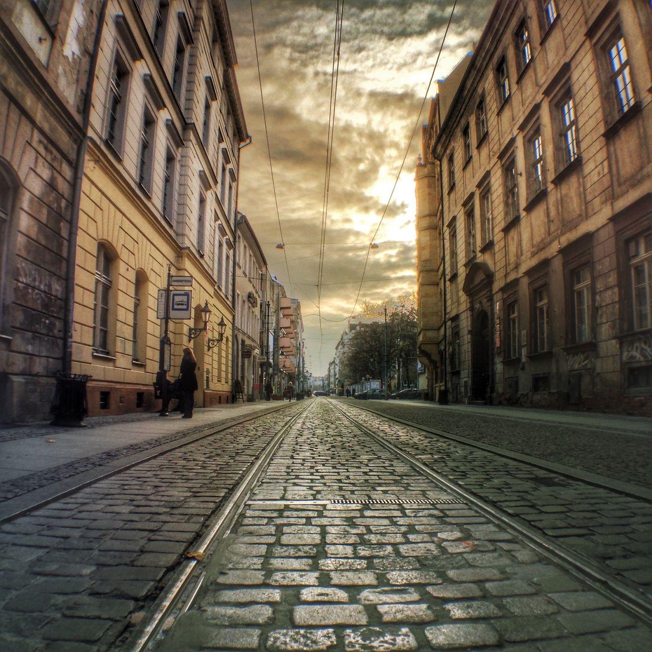 Wroclove City HDR_photo Old Buildings Street IPhoneography Iphonephotoacademy IPSBuildings IPSLeadingLines