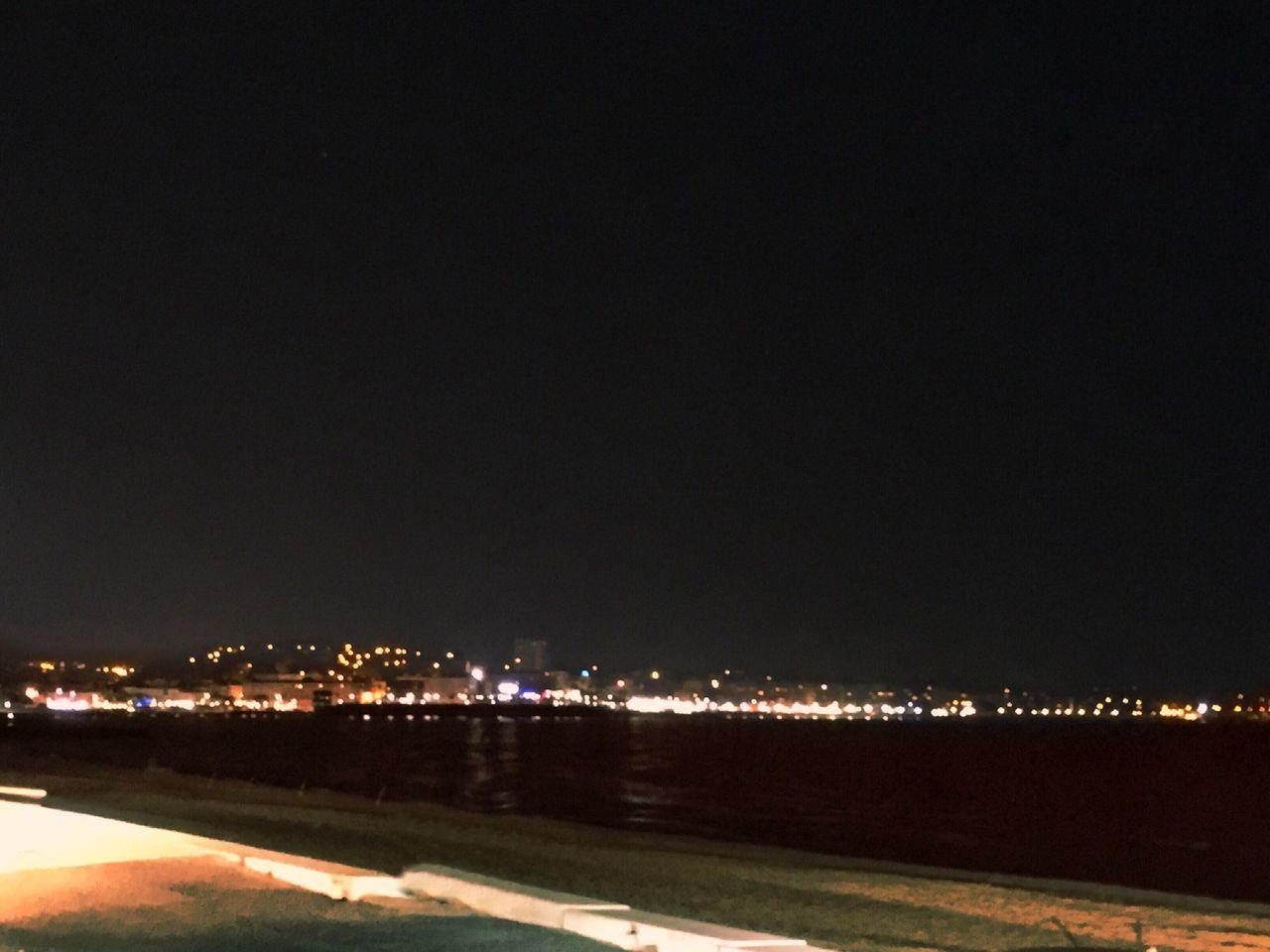 Night Nuit Saint Raphael Au Bord De Mer Bord De Mer Méditerranée Côte D'Azur Mer Mediterranée Ville City