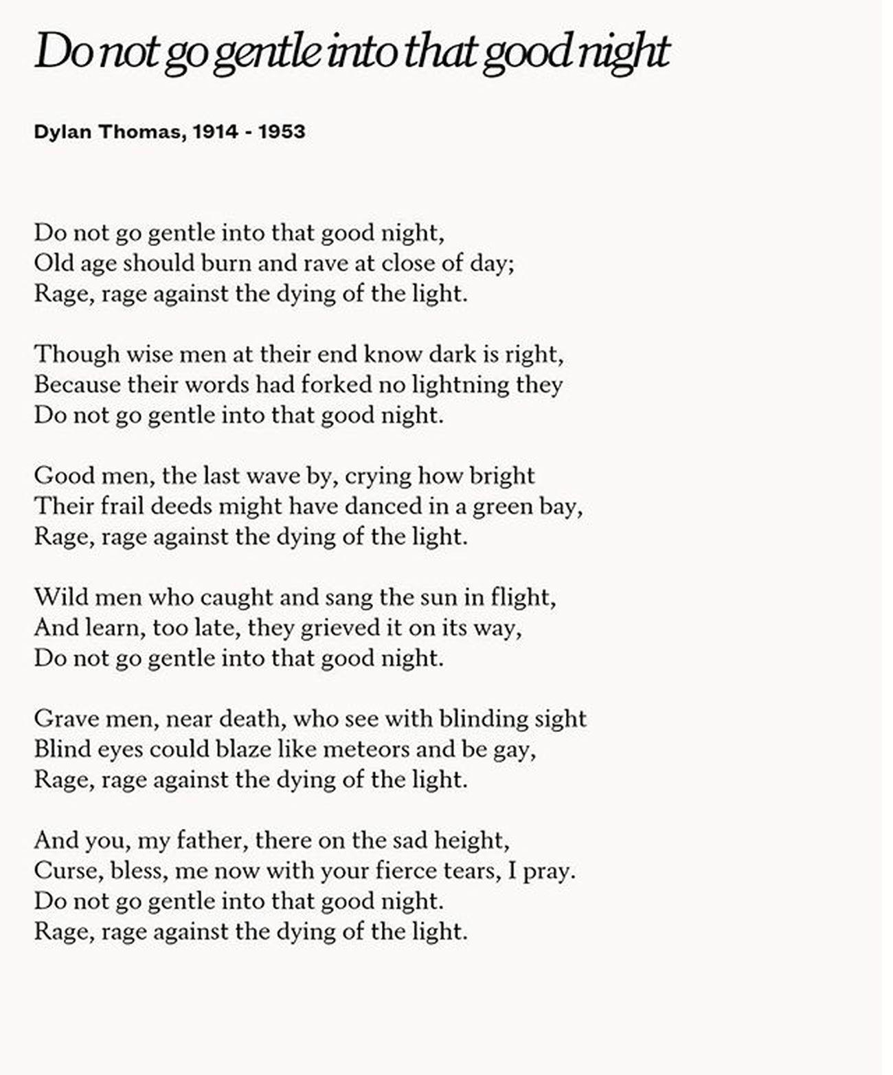 Rage DylanThomas