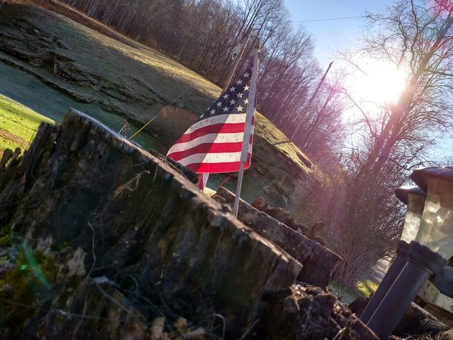 The Purist (no Edit, No Filter) American United States Morning Light Firstlight Sunshine Flag American Flag Patriotism EyeEm Best Shots Taking Photos Check This Out Interesting Beautiful Colors From My Point Of View Beautiful Mobilephotography West Virginia Exploringpaidoff