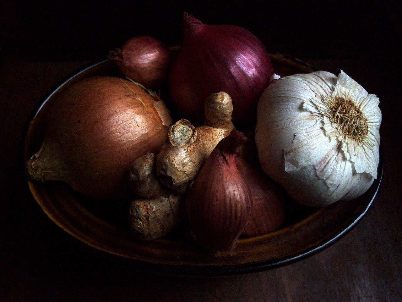 Brown Onion Food Food And Drink Garlic Ginger Onion Organic Red Onion Vegetable