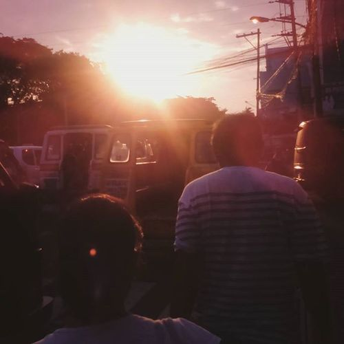 visual snap of the day Street Busy Monday Orange Dusk Sunset Drive Hour Rush Hour Bacolod City