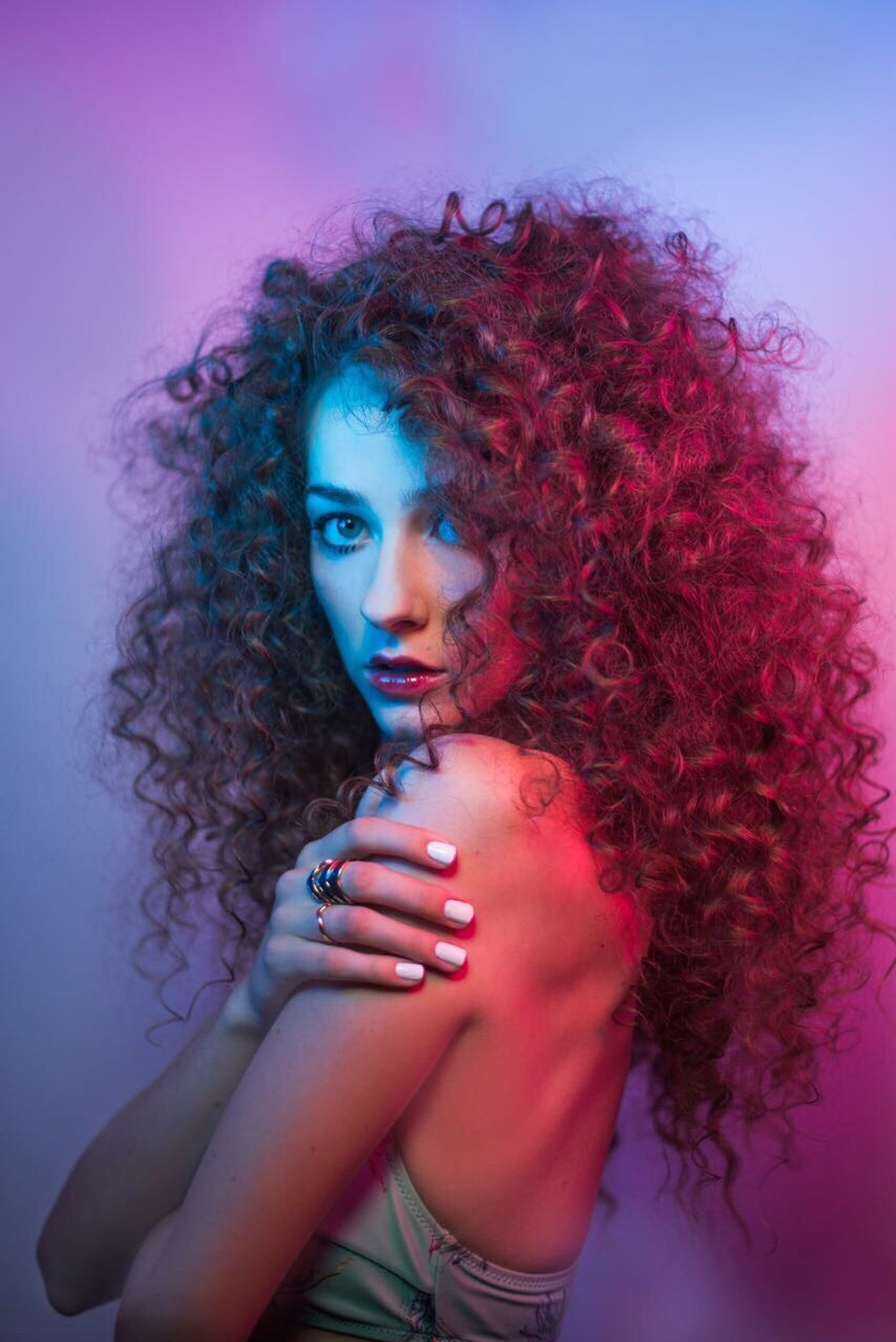 Beauty Model Neon Colourpop Odetograce Studio Studio Shot This Week On Eyeem TheWeek On EyEem