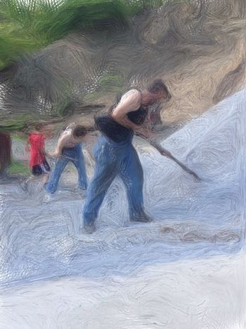 The Guys Working Hard NEM Painterly Family Matters Helping Mom Love My Family ❤ Getting Things Done