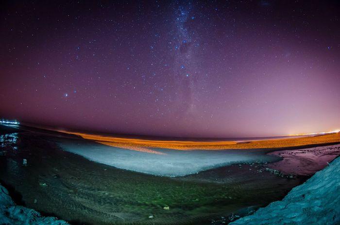 La caleta, mar chiquita Night Star - Space Sky Galaxy Long Exposure Sea Eyefish