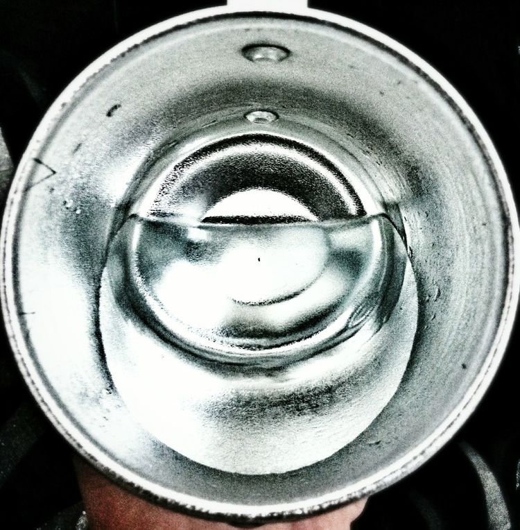 Circle Cup Cup Of Water Silvery Things