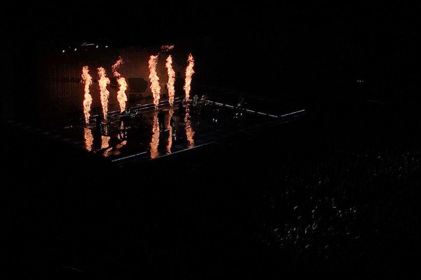 Music Concert Night Illuminated Stage Fire Entertainment Performance Brunomars Ericsson Globe Stockholm Sweden Stage - Performance Space Popular Music Concert