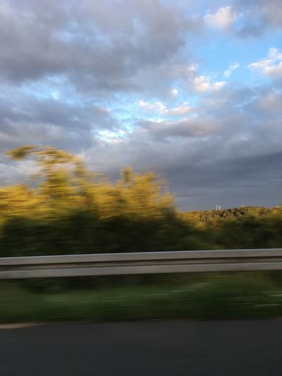 Dramatic Sky Driving Fast In Motion Motorway Art Storm Cloud Sunset Wild Sky Wind Turbines