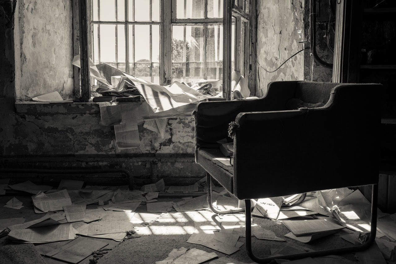 Morning Papers Abandoned Abandoned & Derelict Abandoned Buildings Abandoned Places Absence Blackandwhite Chair Empty Estonia Europe Exploring Furniture Memories Mono Monochrome No People Old Old Buildings Patarei Prison Sepia Tallinn The Past Urban Exploration Urbex