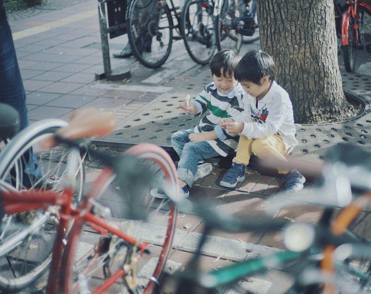 Japan Photography Fukuoka,Japan Japan Young Kids Bicycle Friendship Young Wild And Free(;