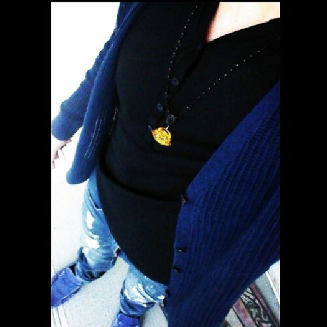 Fresh cardigan and tee from Armani Tigereye YYC Yycstyle styleabidingcitizen style blue me steez yum May