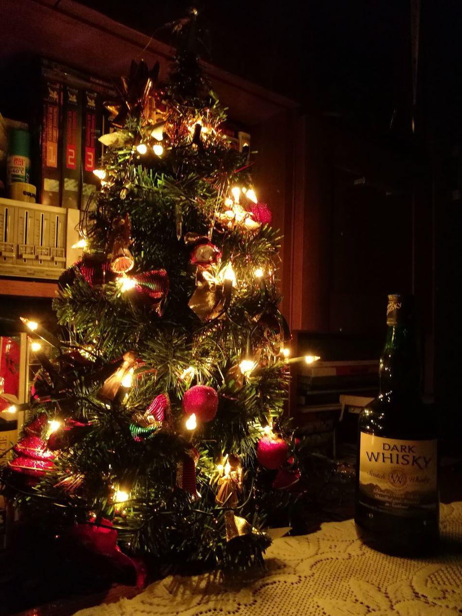 Christmas time whisky Christmastime Christmas Tree Christmas Lights Night Whisky Whisky Collection