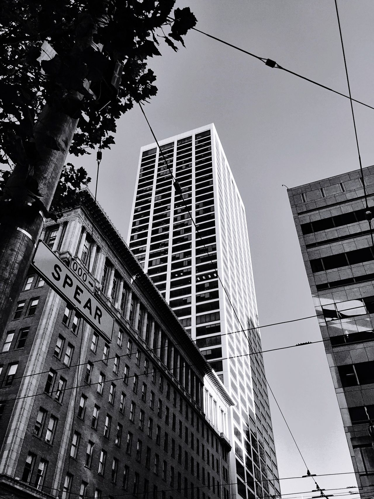 """Like a Spear"" A tall building emerges spear like at Market and Spear streets in San Francisco, California. Architecture Architecture_collection Architecturelovers Blackandwhite Blackandwhite Photography Skyscrapers Urban Geometry Urbanphotography Urbanexploration San Francisco"