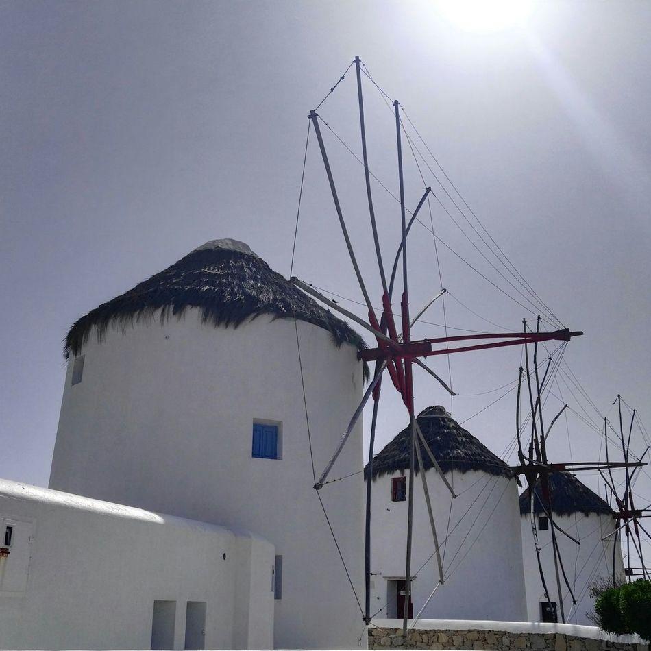 the famous Windmills of Mykonostown