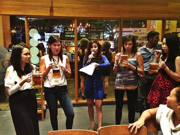 Beer drinking contest. Go TeamPrestige!!!