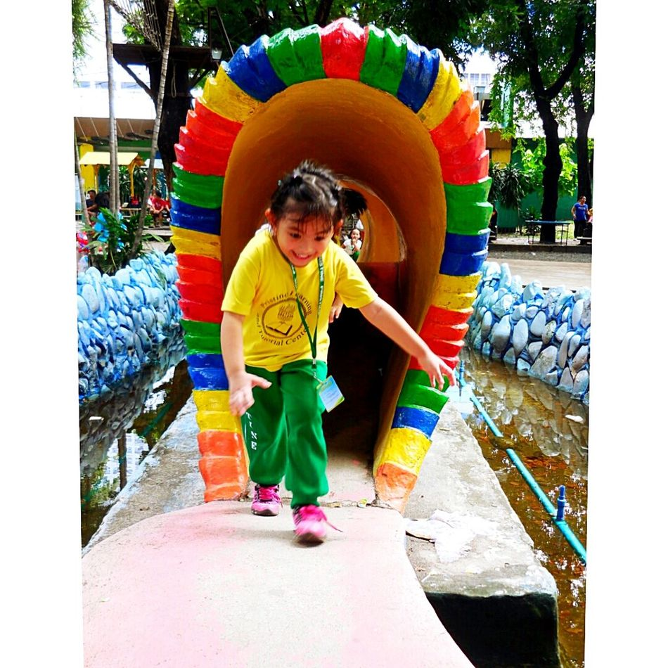 CHASING HAPPINESS THAT NEVER ENDS. Running like the wind and doing what she thinks living is, 4 year old Camille enjoys her first field trip in a Children's Park in Luneta. (Manila, August 30, 2015) I Choose To Be Happy!