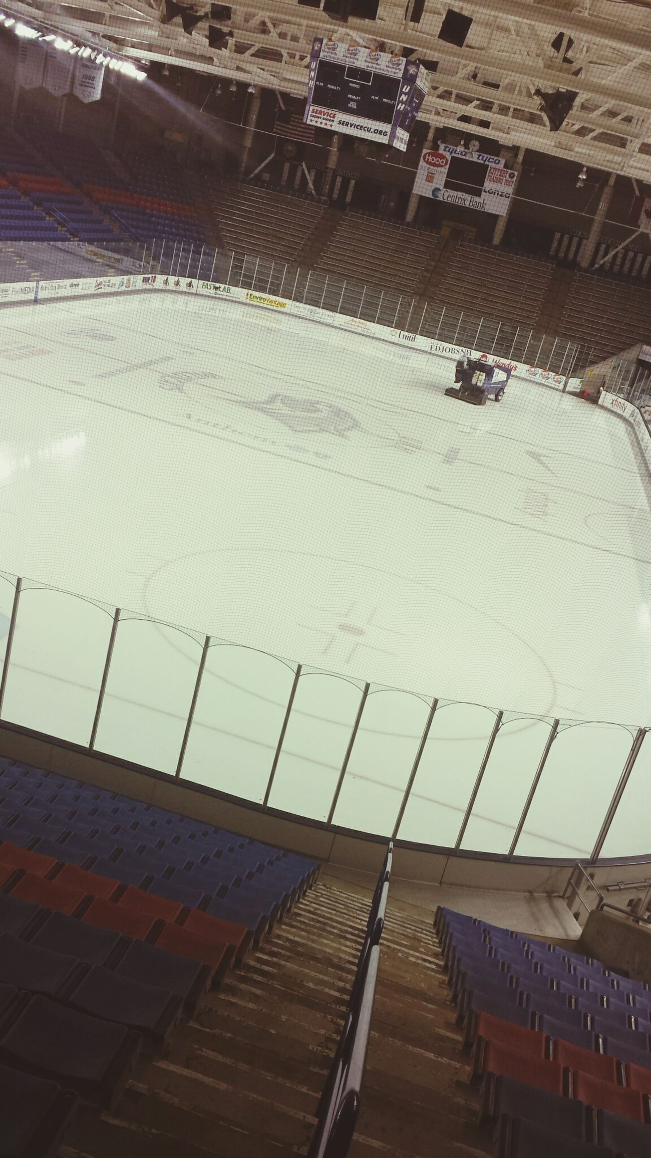 UNH college visit checking out the hockey arena ??
