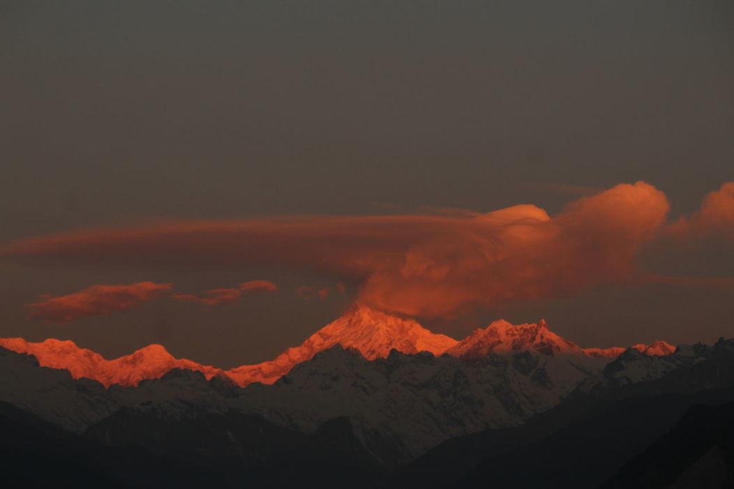 Majestic Mt Khangchendzonga early morning shot from Singhik View Point, North Sikkim.. Northeast INDIA Mountainview Tranquil Scene MtKanchenjunga Landscape Mountain Range Himalayanwonders MtKhangchendzonga Travel Destinations