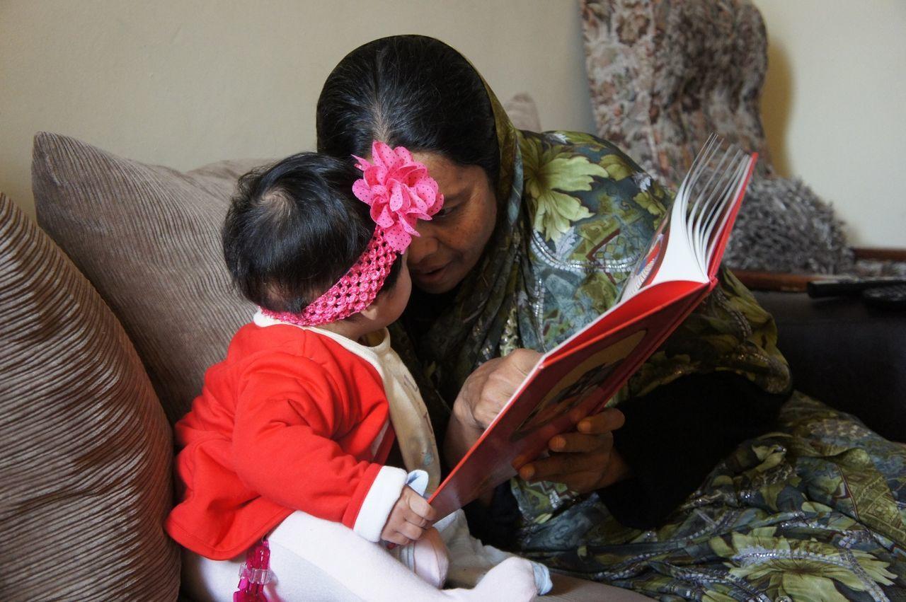 Love ♥ Grandparents Baby Girl Storytelling Story Time Explaining Something Explanation Indoors  Women Around The World