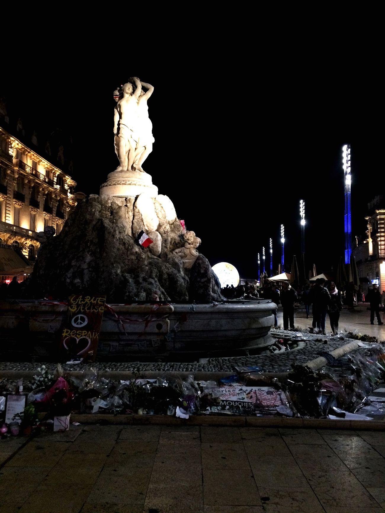 Montpellier Les3Grâces Hommage Aux Victimes