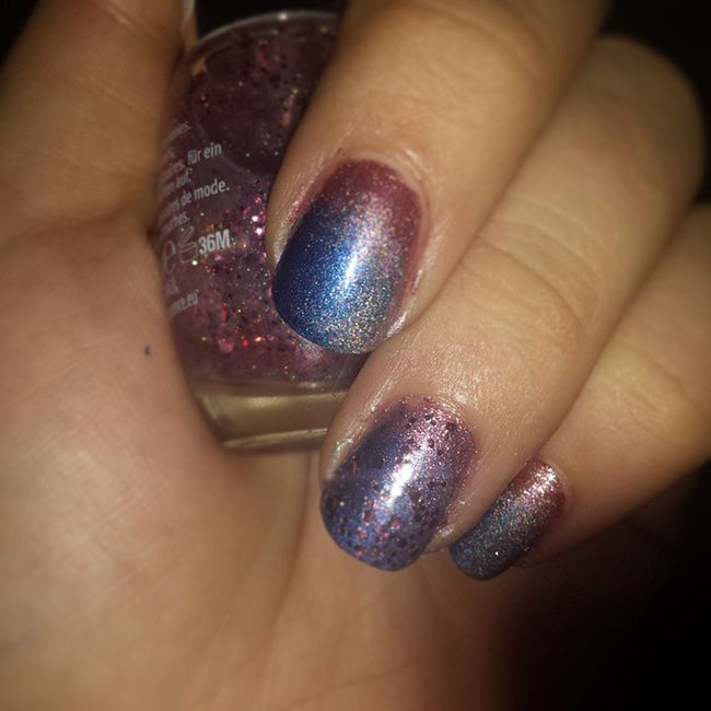"Nails New Holo Rival De Loop RdeL Essence Manhattan Grandient Nails Ombre Xmas Sylvester Blog ""blogger Effect Glitz &glam Nailart  Nailarts Easy"