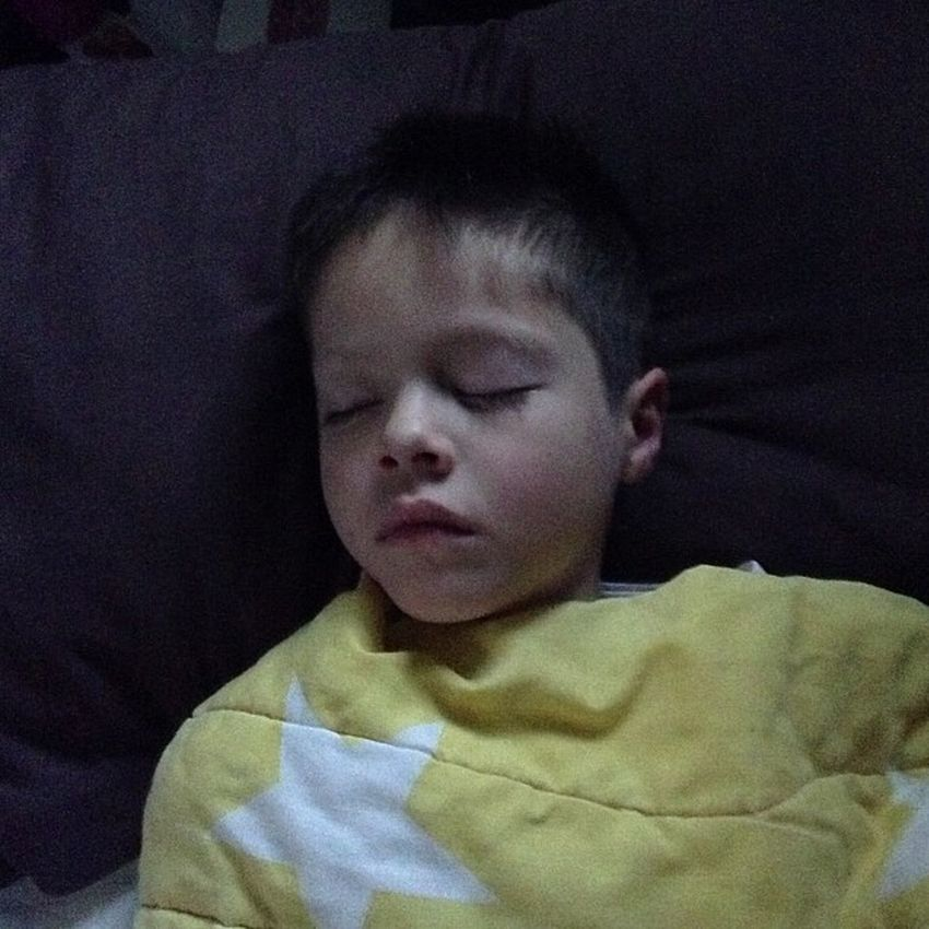 What I wake up too :) Lovemynephew Sleepoversarethebest