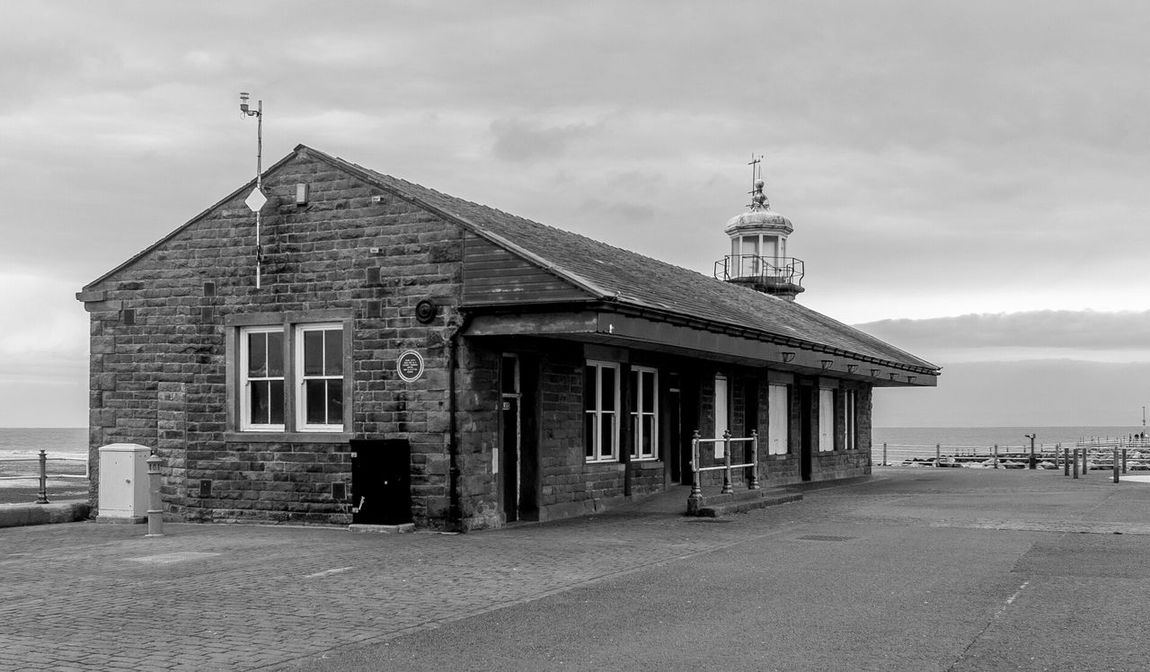 Morecambe Pier Railway Station Railway Station Black And White Morecambe Architecture