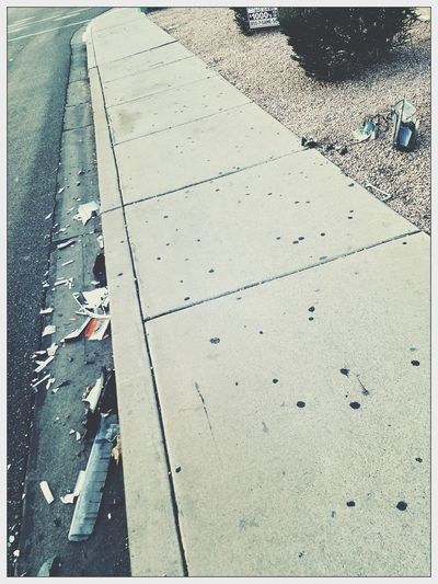 Turning something ugly into art. Littering Arizona Life! Sidewalk Photograhy Curbside Hanging Out Taking Photos Enjoying Life Shot With A Smartphone Camera Taking Pictures Of Things In Front Of Me This Week On Eyeem Nature Photography Pixlr Edit