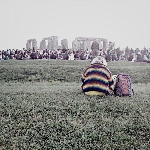 Solitary Hippy Stonehenge Summer Solstice