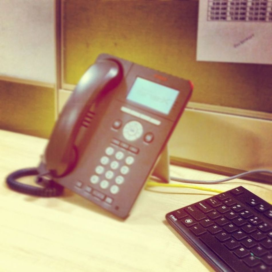 Work disrupted - with the world out holidaying it's time for the IP phones to catch some breath and wait for the businesses to resume as usual Avaya Idle Sluggish Workdisrupted