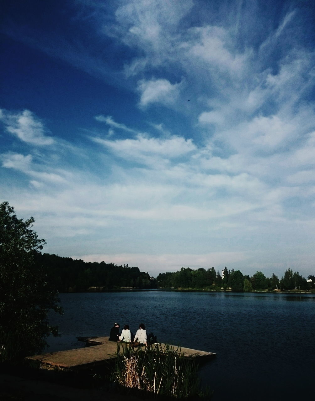 sky, lake, water, tree, nature, tranquility, outdoors, beauty in nature, landscape, togetherness, scenics, day, no people