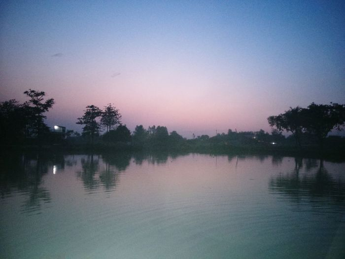 Nature On Your Doorstep pond side Evening Sky Calm Water First Eyeem Photo