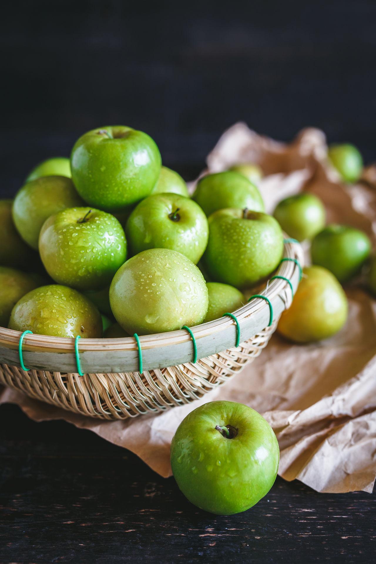 Beautiful stock photos of granny, Apple - Fruit, Basket, Close-Up, Container