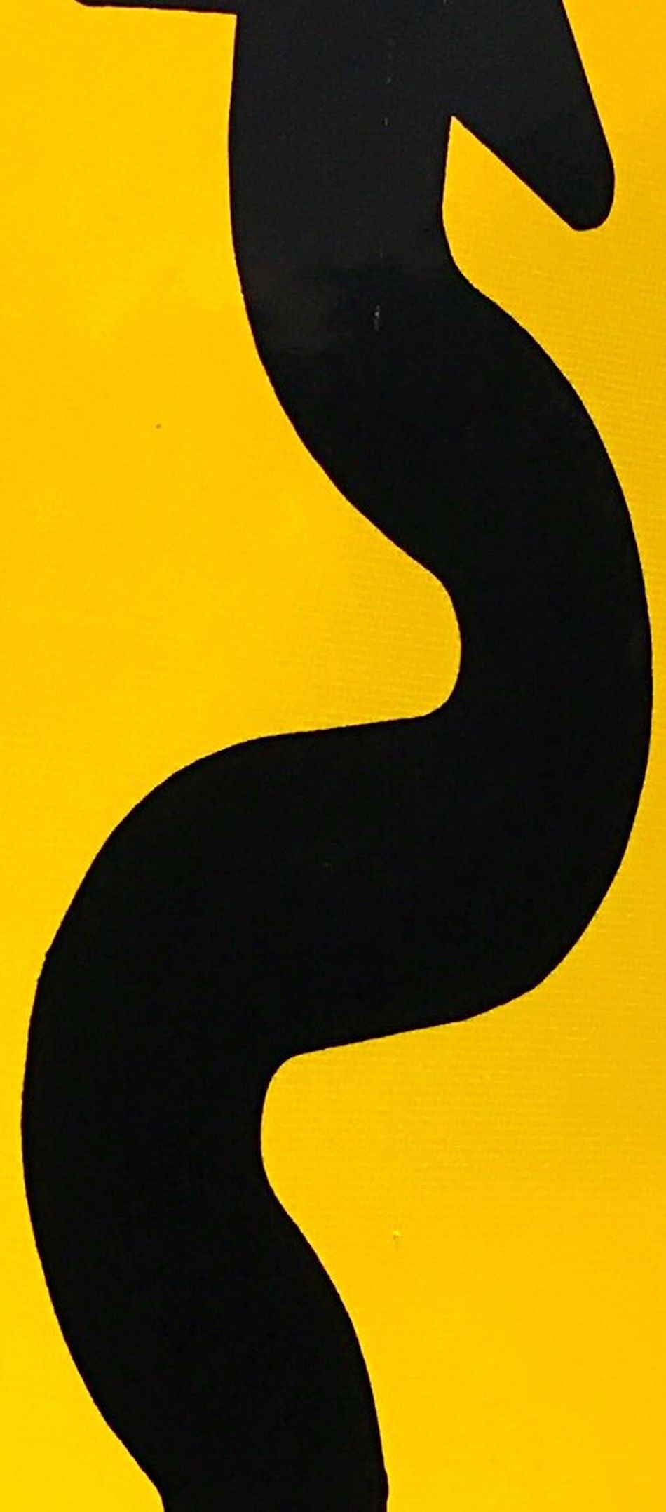 Street Sign Curvy S Curve Black And Yellow  Abstract IPhoneography
