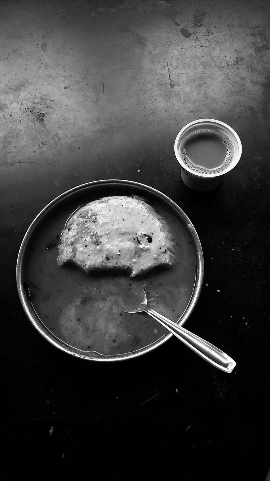 Food On The Go Idli And Coffee And Contrast Black & White Food Photography EyeEm Best Shots - Black + White