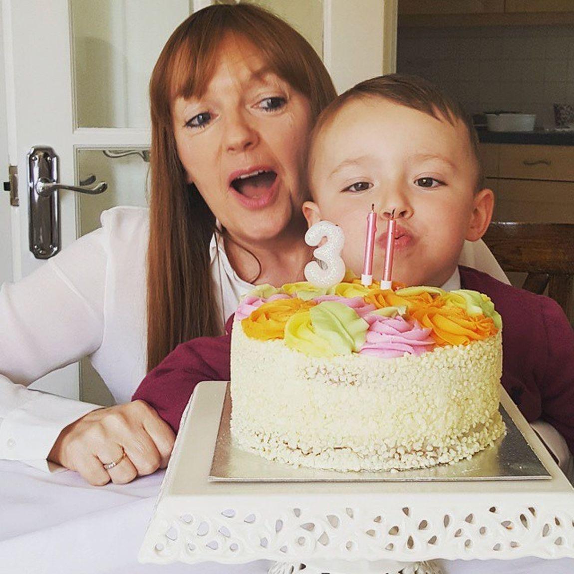 Make a wish!! Grandmaandgrandson Birthdaygirl Makeawish Birthdaycake Family