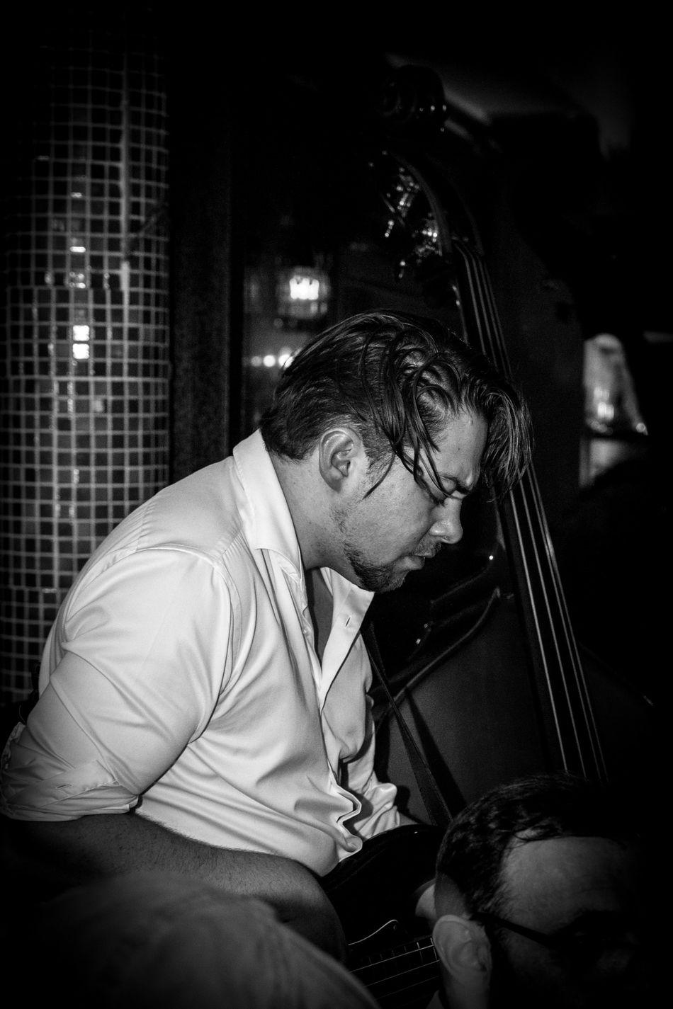 Bass Bassist Black And White Concert Concert Photography Https://bandnamedjacob.wordpress.com Jacob Konzert Live Live Music Men Michael Goldmann Music Musician Musiker One Person Only Men