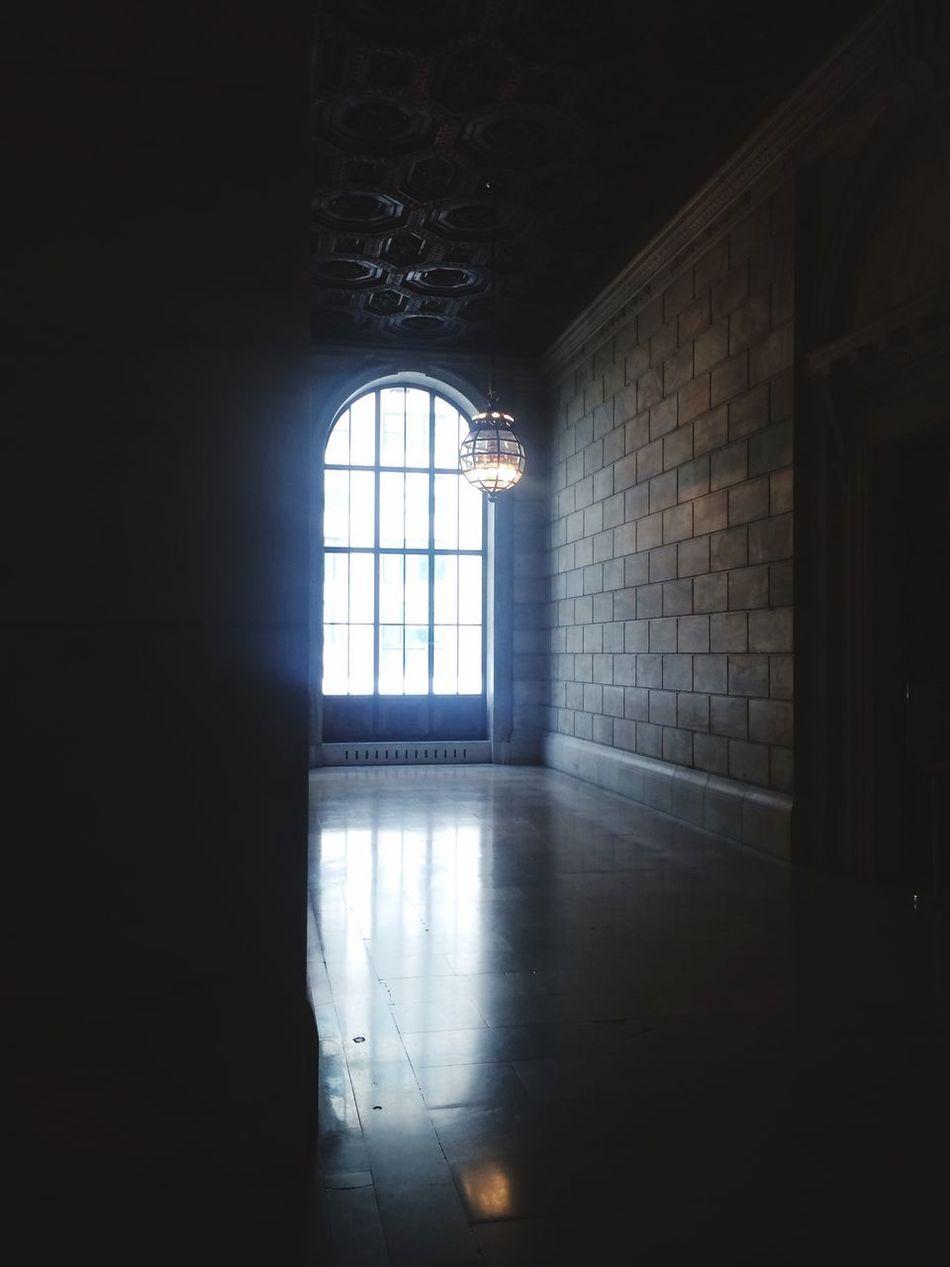 Empty Hallway Empty Light Reflection Stone Emptiness Window Arch Big Window :)