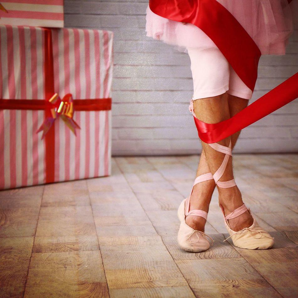 Millennial Pink Pink Pink Color One Person Ballerina Ballet Dancer Ballett Ballet Shoes