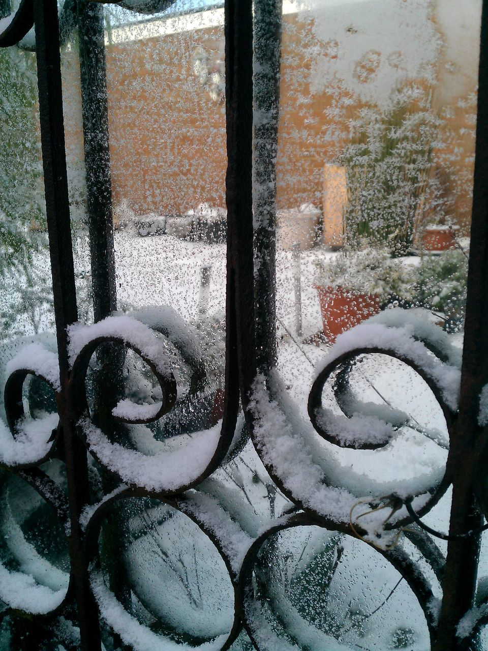winter, snow, cold temperature, weather, no people, metal, day, window, outdoors, close-up, nature
