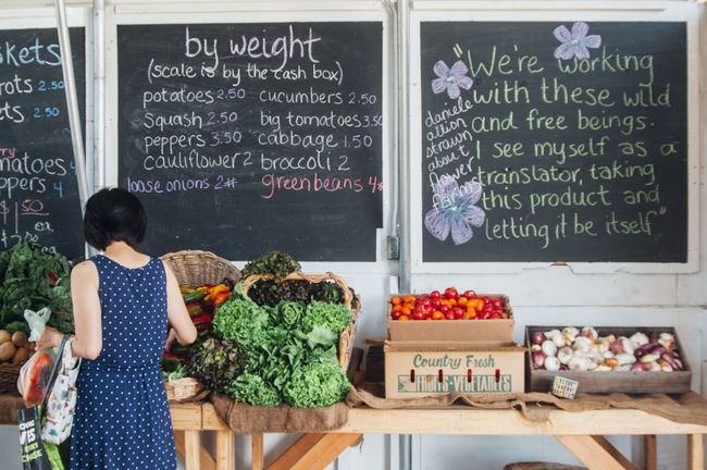 Buying Casual Clothing Choice Collection Communication Customer  Day Display Farmstand Food Food And Drink For Sale Freshness Information Sign Large Group Of Objects Organic Person Retail  Shopping Text Variation Vegetables Western Script