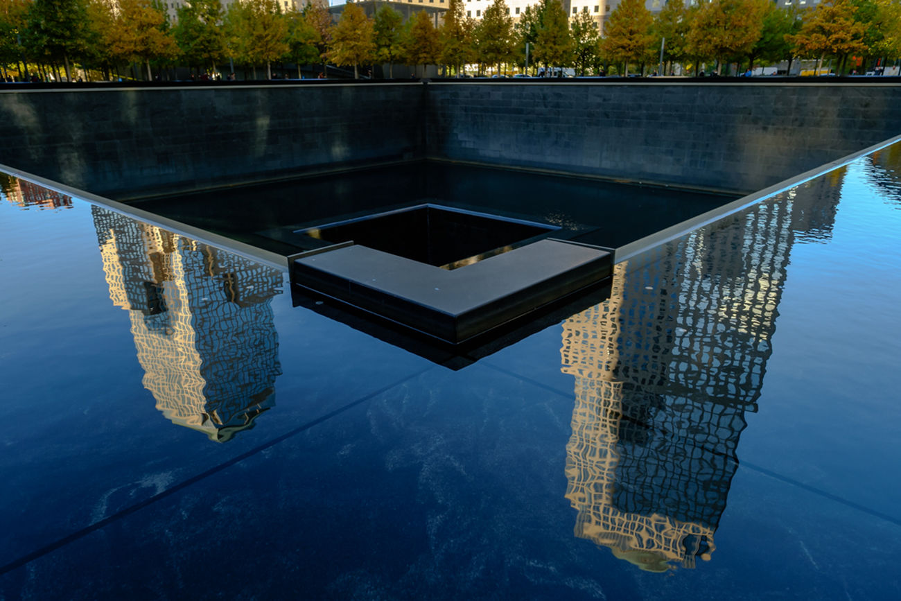 Reflections on the North Pool WorldTradeCenter Reflection Water Outdoors Travel Fujilove Streetphotography Myfujifilm Newyork Architecture City Modern Memorial